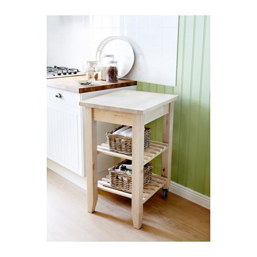 Carrello 58 x 50 faggio massiccio arredo cucina ikea for Bekvam kitchen cart