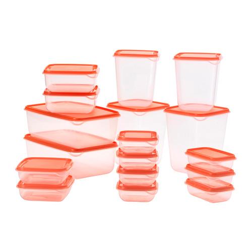 Set Contenitori Trasparenti Per Alimenti 17 Pz Come Tupperware Ikea Pruta