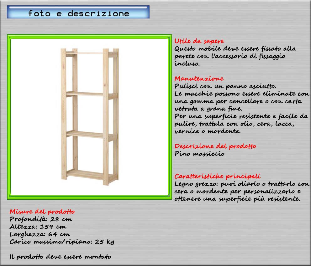 SCAFFALE PINO MASSICCIO 64x28x159 cm IKEA ALBERT | eBay