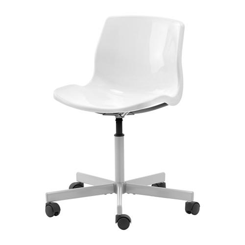 Sedia da scrivania ufficio bianco sedile 67x67 altezza - Sedia rotelle ikea ...