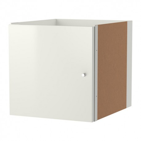 IKEA KALLAX Struttura interna con anta, bianco lucido