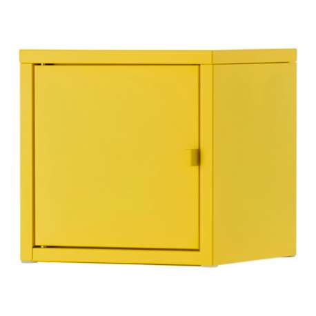 ikea lixhult mobile metallo giallo. Black Bedroom Furniture Sets. Home Design Ideas