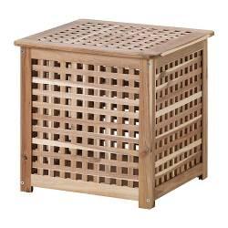 IKEA HOL Tavolino / contenitore acacia