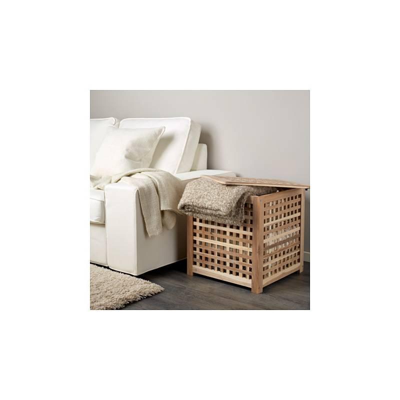 Tavolino Contenitore Ikea.Ikea Hol Tavolino Contenitore Acacia