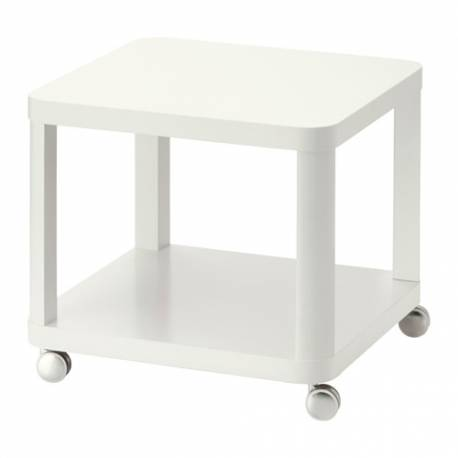 IKEA TINGBY Tavolino con rotelle, bianco 50 X 50 cm