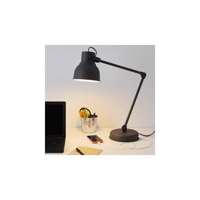 Ikea hektar lampada da lavoro grigio scuro porta usb - Porta lampade ikea ...