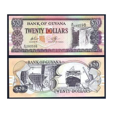 BANCONOTA GUYANA 20 dollars 2009 FDS UNC