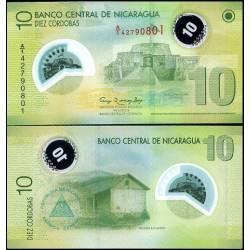 BANCONOTA NICARAGUA 10 cordobas - polymer 2007 - FDS-UNC