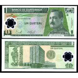 BANCONOTA GUATEMALA 1 queztal - polymer 2006 - FDS-UNC