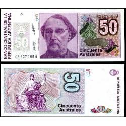 BANCONOTA ARGENTINA 50 australes 2006 FDS UNC