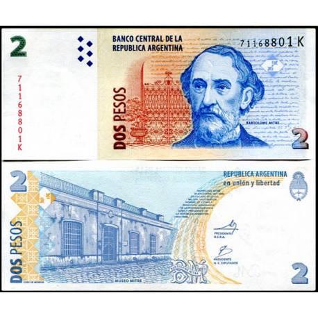 BANCONOTA ARGENTINA 2 pesos 2010 FDS UNC