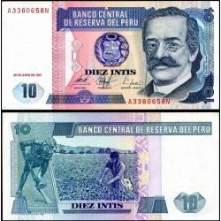 BANCONOTA PERU 10 intis 1987 FDS UNC