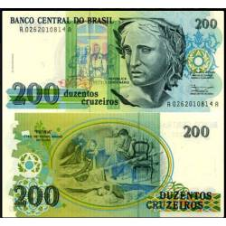 BANCONOTA BRAZIL 200 cruzeiros 1990 FDS UNC