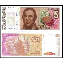 BANCONOTA ARGENTINA 5 australes 1985 FDS UNC