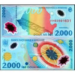 BANCONOTA ROMANIA 2000 lei 1999 - polymer - FDS-UNC