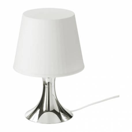 IKEA LAMPAN Lampada Da Tavolo, Color Argento / Bianco,classe Energetica A+