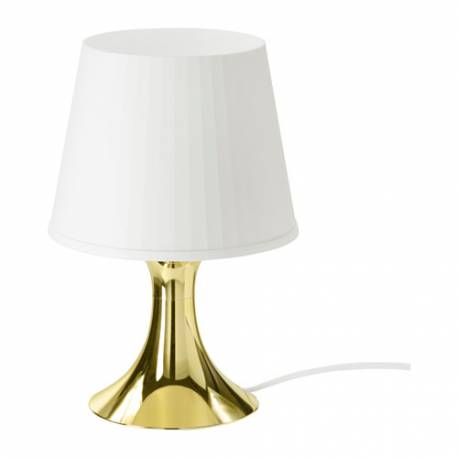IKEA LAMPAN Lampada Da Tavolo, Oro / Bianco, Classe Energetica A+