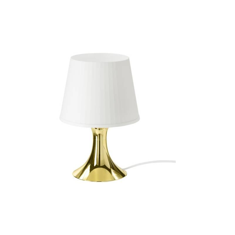 Ikea lampan lampada da tavolo color oro bianco classe for Ikea lampada scrivania