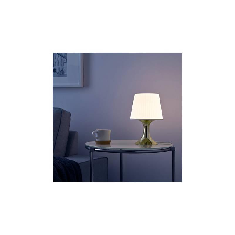 Ikea lampan lampada da tavolo color oro bianco classe - Ikea tavolo bianco ...