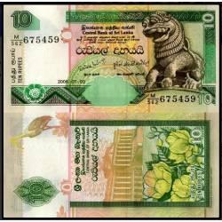 BANCONOTA SRI LANKA 10 rupees 2006 FDS UNC