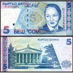 BANCONOTA KYRGYZSTAN 5 som 1997 FDS UNC
