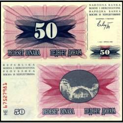 BANCONOTA BOSNIA & HERZEGOVINA 10 dinara 1992 - FDS-UNC