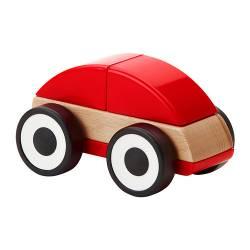 LILLABO Automobilina in legno, rosso giochi giocattoli bambino