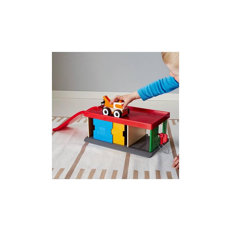 Lillabo automobilina in legno rosso giochi giocattoli bambino for Arredamento garage ikea