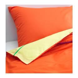 STICKAT Copripiumino e federa, arancione, giallo 150x200/50x80 cm, bambini IKEA