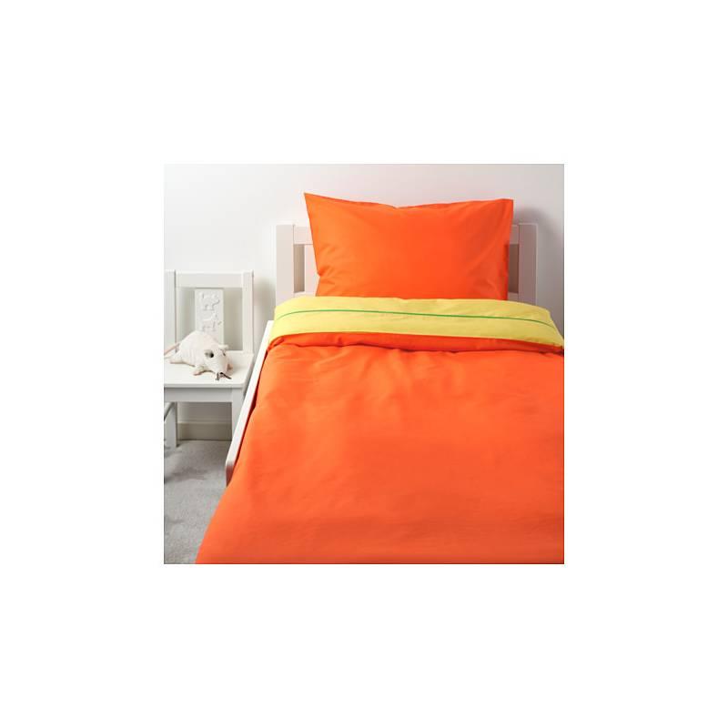 stickat copripiumino e federa, arancione, giallo 150x200 / 50x80 cm - Copripiumino Bambina Ikea