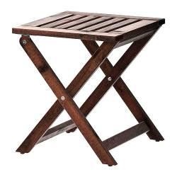 IKEA ÄPPLARÖ Sgabello da giardino, marrone pieghevole mordente marrone