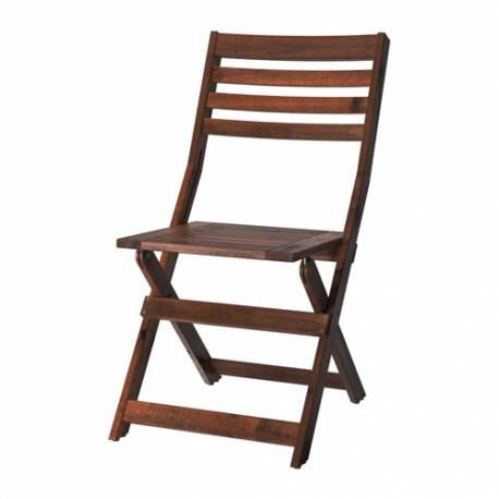 Ikea Sedie Per Giardino.Kea Applaro Sedia Da Giardino Marrone Pieghevole Mordente Marrone