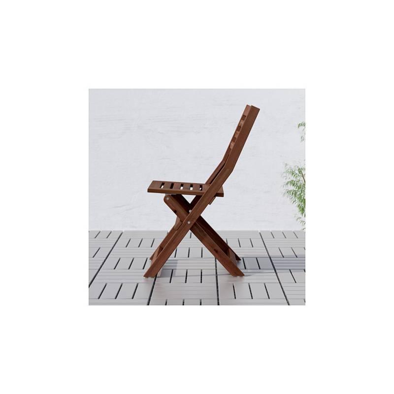 Ikea Sedie Giardino Pieghevoli.Kea Applaro Sedia Da Giardino Marrone Pieghevole Mordente Marrone
