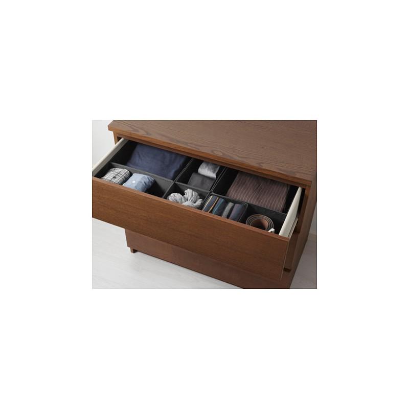 Cassettiera Malm Ikea 3 Cassetti.Cassettiera Con 3 Cassetti Mordente Marrone Impiallacciatura Di