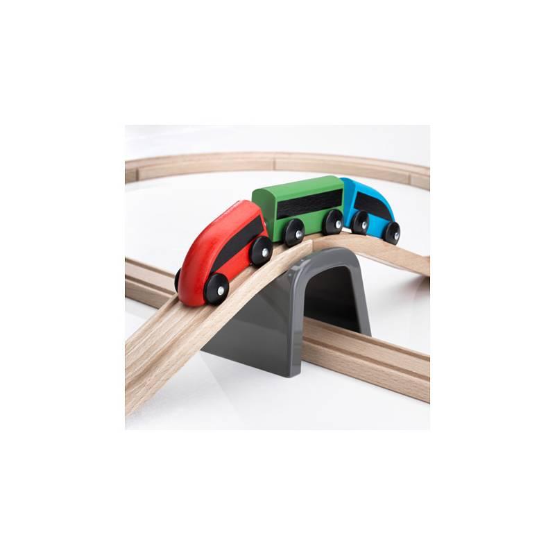 Ikea lillabo automobilina in legno rosso giochi giocattoli bambino - Trenino di legno ikea ...