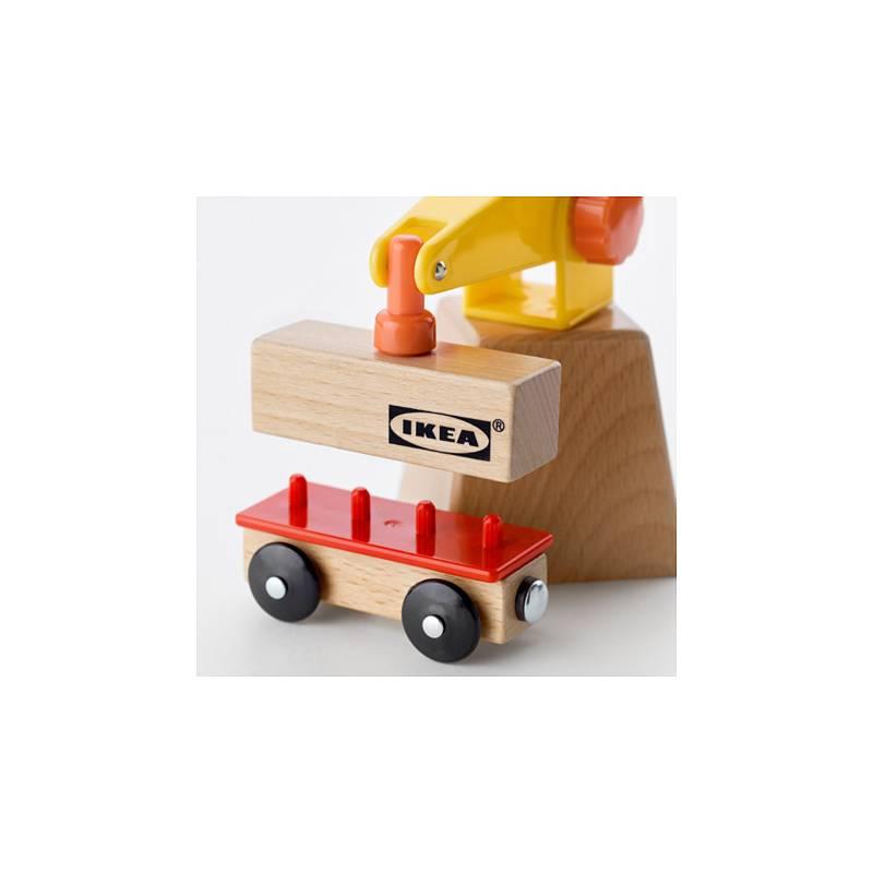 Set gru e vagone 3 pezzi per trenino in legno ikea lillabo for Ikea articoli per bambini