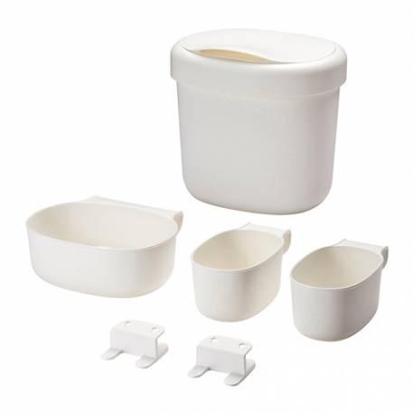 Set contenitori per fasciatoio 4 pezzi bianco ikea nsklig for Contenitori per giocattoli ikea