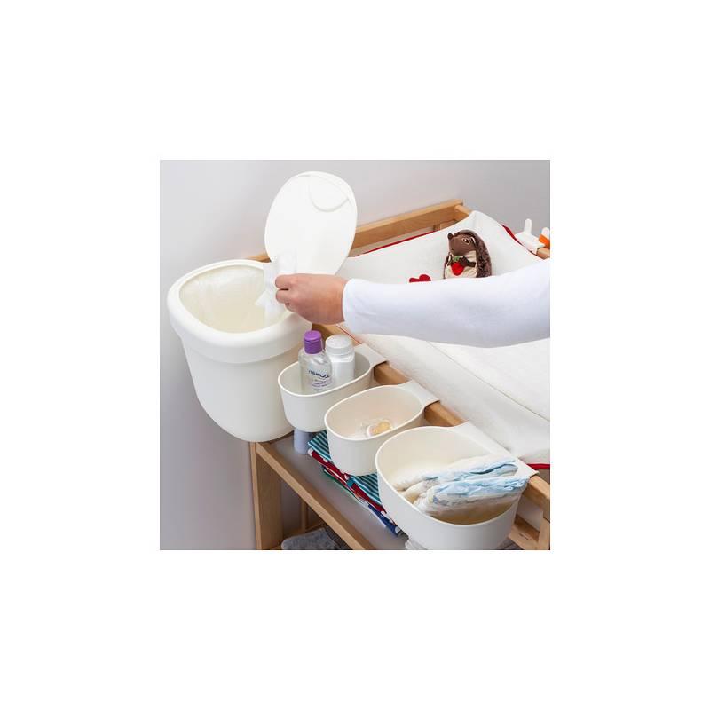 Set contenitori per fasciatoio 4 pezzi bianco ikea nsklig for Fasciatoio parete ikea