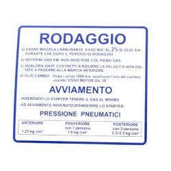 """RMS Targhetta rossa """"rodaggio"""" Piaggio Vespa 50-90-125 Primavera-Et3 610170M002"""