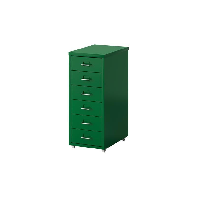 HELMER Cassettiera con rotelle, verde