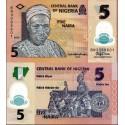BANCONOTA NIGERIA 5 naira polymer 2015 FDS UNC