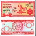 BANCONOTA BURUNDI 20 francs 2007 FDS UNC