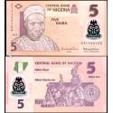 BANCONOTA NIGERIA 5 naira polymer 2013 FDS UNC