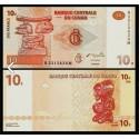 BANCONOTA CONGO 10 francs 2003 FDS UNC