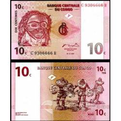 BANCONOTA CONGO 10 centimes 1997 FDS UNC