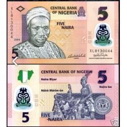 BANCONOTA NIGERIA 5 naira polymer 2009 FDS UNC