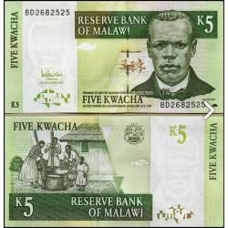 BANCONOTA MALAWI 5 kwacha 2005 FDS UNC