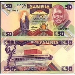 BANCONOTA ZAMBIA 50 kwacha 1988 FDS UNC