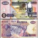 BANCONOTA ZAMBIA 100 kwacha 2010 FDS UNC