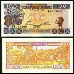 BANCONOTA GUINEA 100 francs 1998 FDS UNC